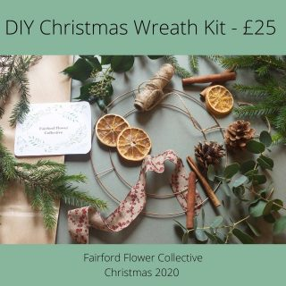 If you fancy having a go at making your own Christmas wreath this year then we've got everything you need! Check out our @fairford_flower_collective diy wreath kit. @corkyandprince @tcgcutflowers @honeymoonfernflowers #christmaswreath #diychristmaswreath #makeyourownwreath #fairford #lechlade #kempsford #fairfordflowercollective #smallbusiness #christmas2020 #cotswolds #cotswoldlifestyle #cotswoldlife