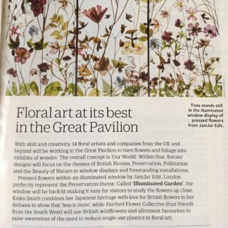 How exciting to be featured in the August issue of @the_rhs The Garden magazine! We're busy prepping for the September #rhschelseaflowershow at the moment (in between weddings!) which isn't too far away now! We can't wait to showcase British grown flowers at Chelsea this year 🌸 @fairford_flower_collective @honeymoonfernflowers @the_cotswold_garden @corkyandprince @flowersfromthefarm #chelseaflowershow2021#flowersfromthefarm#britishgrownflowers#fairfordflowercollective #cutflowers #ourchelseaflowershow #freshflowers #rhschelsea #rhs #flowershow