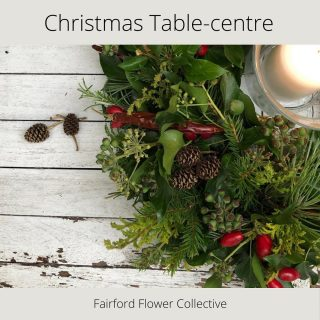 Make your table look lovely and festive with our @fairford_flower_collective eco Christmas table decoration. Available for collection from 19th December from #fairford #lechlade or #kempsford After Christmas you can just stick it on the compost heap! #fairfordflowercollective #ecotabledecoration #christmas2020 #christmasdecoration #tabledecoration #shoplocal