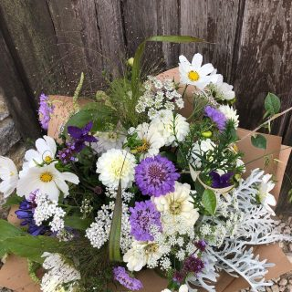 I enjoyed making this birthday bunch yesterday, and recipient lived within walking distance. #britishflowers #deliveredlocally #locallygrown #seasonalflowers #septemberflowers #cutflowers #freshcutflowers #growninthecotswolds #cotswolds #smallbusiness